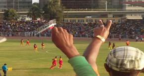 Behailu Assefa Celebrating his Goal