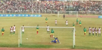 Gatoch Panom Scoring The Winning 3rd Goal From a penalty